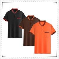 2021 Estate manica corta Olo T-shirt T Shirt Fashion Shi RTS Casual Slim Solid Colour Business M Ens Abbigliamento ABL809