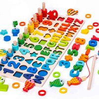 Montessori Children's Geometric Cognition Counting Game, Mathematics Learning Early Childhood Education Toy 3