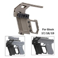 Tactical ABS Pistol Kit Carbine Kit con pannello ferroviario per G17 G18 G19 GBB