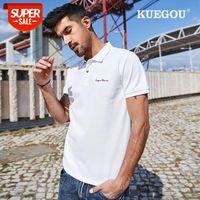 2021 Noir Coton Spandex Polo Hommes Polo à manches courtes Broderie Poloshirt Summer Hommes Top Mode Plus Taille ZT-3381 # 0F14