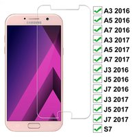 9D Full Protection Glass the For Samsung Galaxy A3 A5 A7 J3 J5 J7 2017 2016 S7 Safety Tempered Screen Protector Film Case