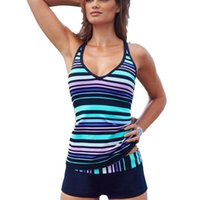 Women's Swimwear Womens Sport Tankini Bikini Set Tank Tops Boy Shorts Swimsuit Beachwear 2021 Sexy Female Bandeau Bathing Suit Bather