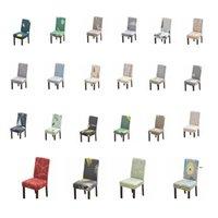 Stretch Chair Cover Anti-dammsäte Slipcover Tvättbara borttagbara stolar täcker matsal kök hotell restaurang ceremoni verktyg fwd8630