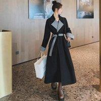 Herbst- und Winterwollmantel Weibliche mittelgroße koreanische Temperament-Frauen-Oberbekleidungswolle-Mischungen