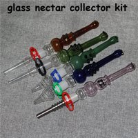 glass nectar collector hookah kit 14mm with quartz nail metal nails dabber dish ashcatcher bong hand pipes