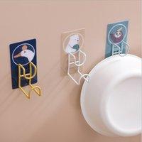 Washbasin Holder Hook Towel Coat Hat Rack Bathroom Kitchen Door Wall Mounted Strong Sticker Hooks Self-Adhesive Storage Gadget Organizer