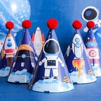 저작권 우주 비행사 테마 파티 어린이 첫 해 세트 사진 소품 모자