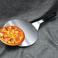 Pizza Shovel Pasticceria Accessori Accessori Pizza Peel Round Acciaio inossidabile Acciaio inossidabile Acciaio antiaderente Paddle Paddle Spade Forklift HWWE6660