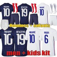 Benzema 2021 Futbol Forması Mbappe Griezmann Pogba 20 21 Futbol Kiti Maillot De Ayak Fekir Pavard Üst Gömlek Erkekler + Çocuklar
