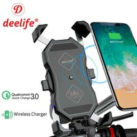 Deelife Motorbike X-Grip Motorcycle Phone Holder Wireless Charging Moto Telephone Support Cell Mobile Smartphone GPS Mount