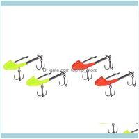 Deportes de pesca Atención al aire libre Cebo, cebo de insecto suave biónico con UV / luminoso, gancho para mar y lago 6.2 cm / 14 g ganchos de entrega de gotas 2021 8V
