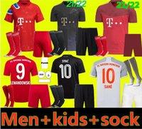 Взрослые и дети 20 21 22 22 Бавария Kit Munich Soccer Trackss Lewandowski 2021 2022 Hernandez Cuoutinho Детская Униформа Взрослая Униформа Полный комплект Футбол