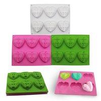 3D Diamond Love Heart Dessert Torta Stampo Silicone Art Stampo 3D Mousse Cottura pasticceria Decorazione moule in silicone