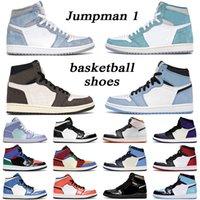 Jumpman 1 ريترو أحذية كرة السلة الرجال النساء 1s الجامعة الأزرق hyper الملكي الظلام mocha رجل مدرب رياضة رياضية