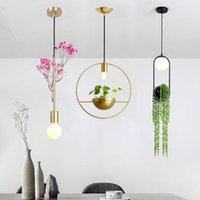 Sarkıt Nordic Bitki Avize Saksı Koridor Restoran Balkon Gökyüzü Bahçe LED Altın Işıkları Oturma Odası Yatak Odası Modern Dekor