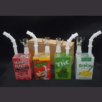 Hitman Mini Liquid Glass Water Pipe Beaker Bong Cereal Juice Box oil Rigs Bong Heady Dab Rig With 14mm Joint Hookahs 7.8''