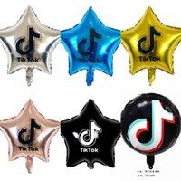 Tiktok Ballons 18 pouces Five à cinq pointes d'aluminium Balloon Fête d'anniversaire Thème décoratif Parties décorées 7Couleur DHL G34X5TQ