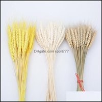 Decorative Wreaths Festive Supplies & Garden100Pcs Lot Real Ear Flower Natural Dried Flowers For Wedding Home Party Decoration Diy Craft Scr