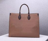 Borsa da donna Tote Bags Shopping Borsa Borsa Borsa Donne Fashion 2 Colare Coffe Coffe Super Large Stampa Lettere classiche in vera pelle di alta qualità