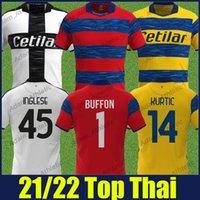 Parme Calcio Soccer Jerseys Buffon Buffon Chemise spéciale Karamoh Cyprien Inglese Football Jersey Gervinho Cornelius Kuco Hernani JR Home Home Shirts 2021/22 Top