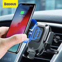 Baseus Qi 10W Wireless Fast Charger Car Air Vent Phone Holder Intelligent Sensor Auto Mobile Phone Stand For iPhone 12 11 X