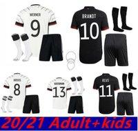 독일 축구 유니폼 멀리 2021 2022 Alemania Maillot Reus Brandt Ginter Kimmich Havertz Kroos Werner Gnabry 남자 아이들 축구 셔츠
