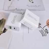 Gutes 20W PD-Typ-C QC3.0 USB-Fast-Ladegerät Telefon US-EU-Steckeradapter-Wandlader für iPhone 12 Pro Samsung OnePlus HTC Xiaomi AFC FCP