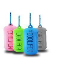 Serviette à glace colorée avec étui en silicone endurant fonctionnant rapidement de rafraîchissements sèches serviettes de jogging gym cool sports de plein air hwb9144