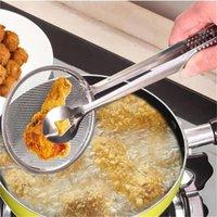 Newmulti-Funcional Filter Cuchara con cocina Cocina Freír la ensalada BBQ Filtro Strainer Cocina Gadgets Accesorios Colanders Ewe7662