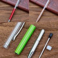كتابة هدية diy أنبوب فارغة معدنية أقلام التعريفي ملء بريق العائمة مجففة زهرة الكريستال القلم أقلام 27 اللون OKI 303 R2