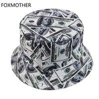 Foxmother новый доллар шаблон Chapeau Femme рыбац шляпа мужчин ведры шляпы наружного кабекета
