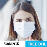 미국 일회용 마스크 500pcs 3- 레이어 보호 및 개인 건강 earloop 입 위생 얼굴 마스크 화이트