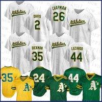 Oakland Custom Athletics 2 Khris Davis Baseball Jersey 26 Matt Chapman 24 Rickey Henderson 35 Jake Diekman 44 Jésus Luzardo 28 Matt Olson