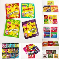 4 types 500mg Canna burs packaging bags empty edible gummmies package bag smell proof resealable zipper pouch packages candy mylar baggies trrlli trolli