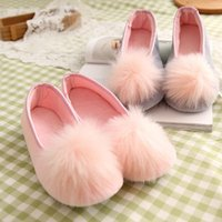Slippers Women Shoes Ladies Home Warm Autumn And Winter Pink Super Cute Flat-heel Low-top Bag With One-legged Lazy