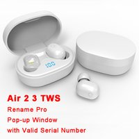 Air Gen 2/3 Tws-Kopfhörer Umbenennen von Pro Pop-Up-Fenster Bluetooth-Kopfhörer Auto-Paring Wireless-Ladekoffer-Ohrhäpfe für einfache Tragen