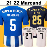 22 22 Porto Luis Diaz Pepe Mens 축구 유니폼 Marcano Mehdi Otvio Srgio 홈 블루 화이트 멀리 3 축구 셔츠 짧은 소매 유니폼