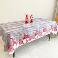 Party Supplies 150*180cm Table Cloth Runner Christmas New Year home Decorations Tablecloth Xmas Tree Elk Plaid Printed Dinner Tables Cover
