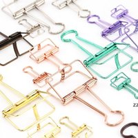 8 цветов Metalhollow Out Binding Clamp Bill Scrapbook Paper Photo Photo Clip Clip Reouthable Home Office School Filing Socials Hwe9254