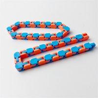 24 매듭 체인 엉뚱한 트랙 안티 스트레스 장난감 감각 FIDGET 장난감 스냅 및 클릭 뱀 퍼즐 구호 모듬 색상 2403 Q2