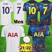 21 22 Kane Son Bergwijn 축구 유니폼 다채로운 멀리 2021 2022 Lucas Dele Fourth Tottenham 축구 키트 셔츠 베일 Ndombele 4 Tops 남자 아이들 세트