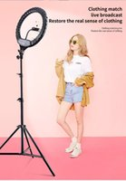 14 LED Light Photographic Selfie Ring Lighting with Stand for Smartphone Makeup Video Studio Tripod