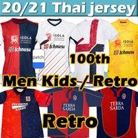 20/21 Cagliari Calcio Futebol Jerseys Centenary Versão 100th Aniversário João Pedro Godin Nandez Nainggolan 1990 92 2003 04 05 Zola # 10 Gobbi Retro Men Kits Kits Shirs