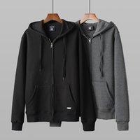 2021 Мужские дизайнеры Куртки Мода Бренд Сплошное Цветовое покрытие Мужская Осенняя Повседневная Молния Вязание Теплый роскошь