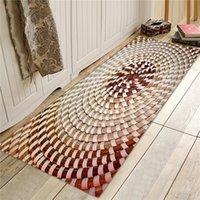 Carpets Bamboo Weaving 3D Printed Floor Mat Door Mats Indoor Entrance Non-Slip For Living Room Bath Bedroom Chair Rug