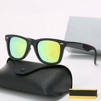 Venda de óculos de sol de alta qualidade Brilling cor mudando clássico homens e mulheres coloridas condução retro aviador marca com caixa