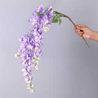 High quality hanging flowers vine wedding decoration silk artificial wisteria home decor nine colors for choose