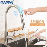 GAPPO Stainless Steel Touch Control Kitchen Faucets Smart Sensor Kitchen Mixer Touch Faucet for Kitchen Pull Out Sink Taps 210724