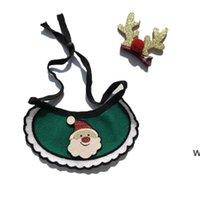 Cani Bibs Dog Christmas Dog Maglia Bandana Forniture per animali domestici Accessori per cani Sciarpa Animali Cuccioli Affari Accesorios Elk Ornamenti per capelli DHF6721