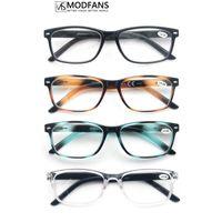 Modfans Femmes Cadre Lunettes Hommes Lecture carrée incassable pour le lecteur printemps haute flexible +1.0 +2,0 +3.0 +4,0 lunettes de soleil